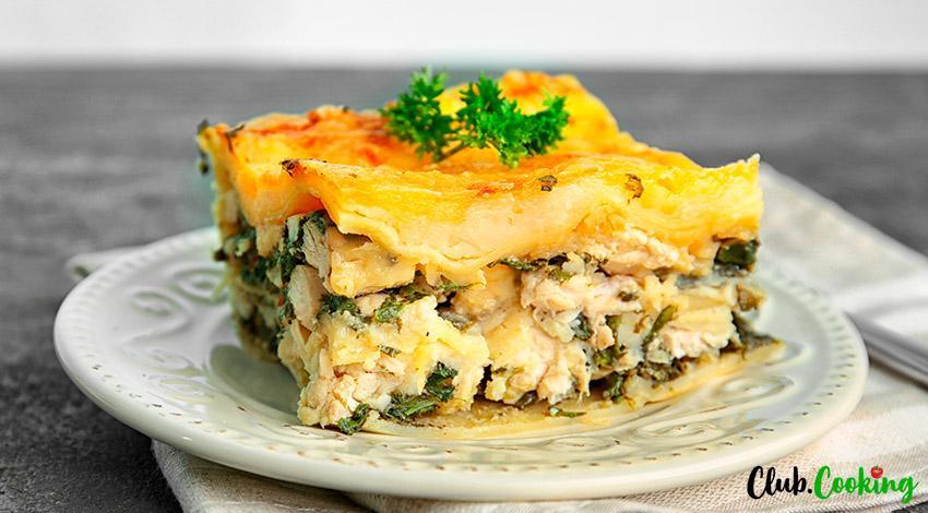 Chicken Alfredo Lasagna 🥘