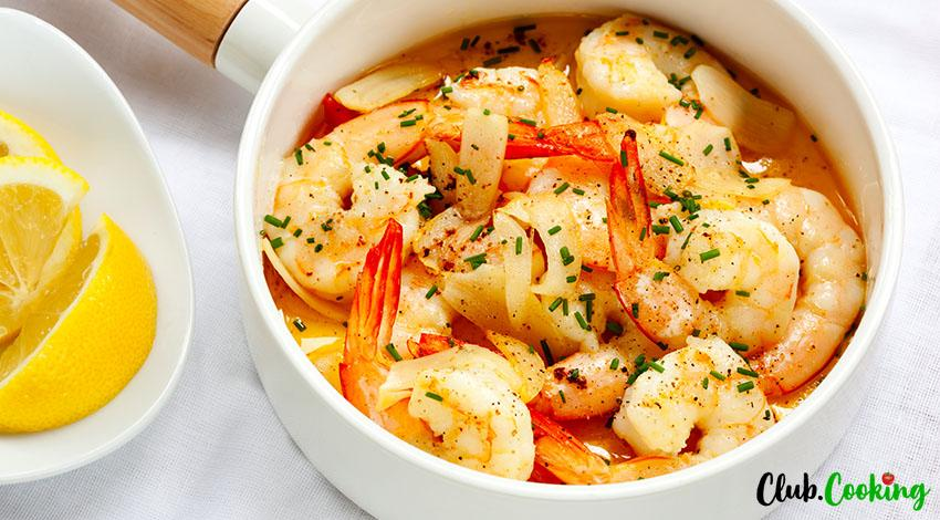 Shrimp With Garlic Sauce 🥘
