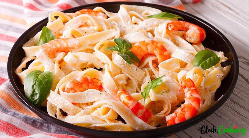 Shrimp Fettuccine 🥘