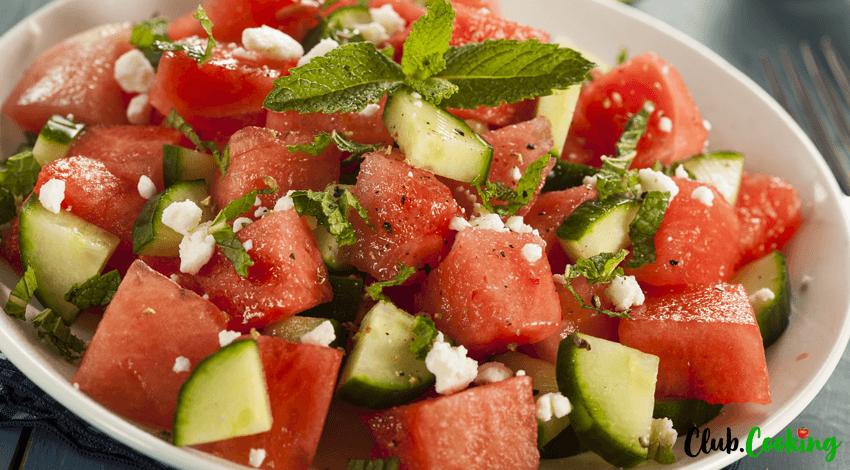 Melonen Feta Salat 🥘