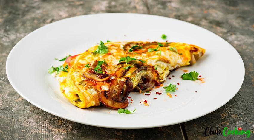 Mushroom Omelette 🥘
