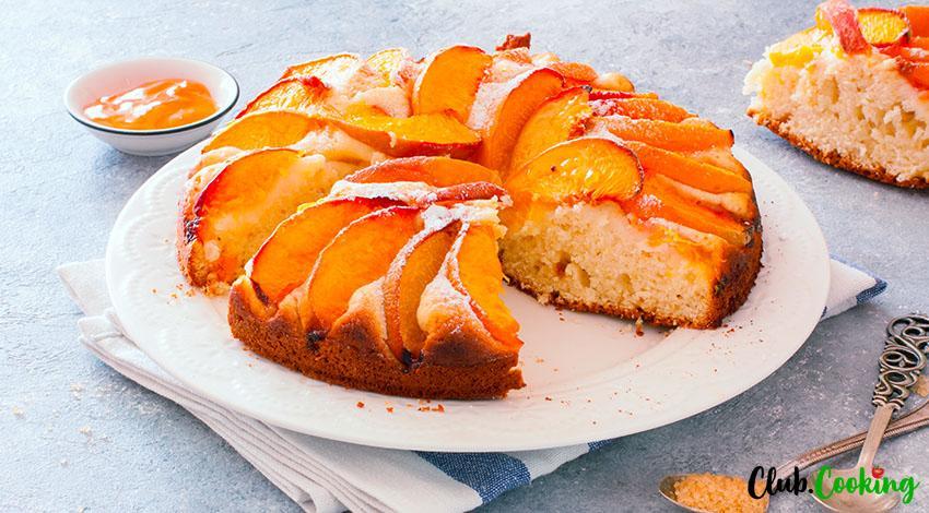 Peach Cake 🥘
