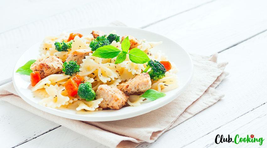 Buffalo Chicken Pasta Salad 🥘