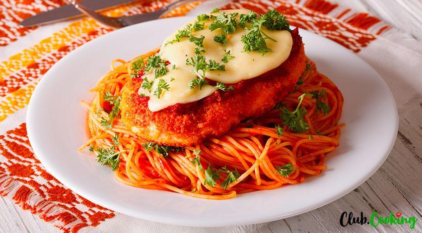 Chicken Parmesan Pasta 🥘