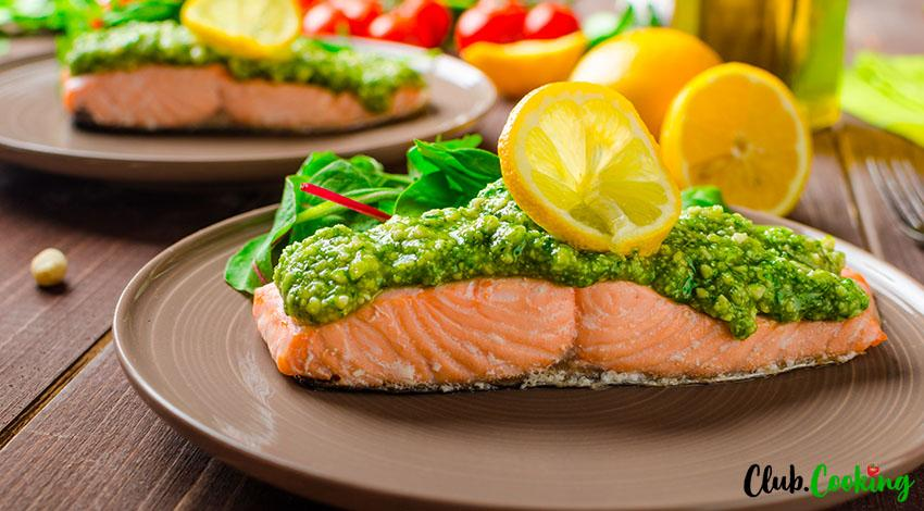 Salmon Pesto 🥘